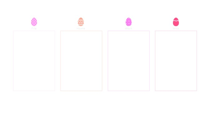 Computer Desktop Organiser Wallpaper Easter Eggs
