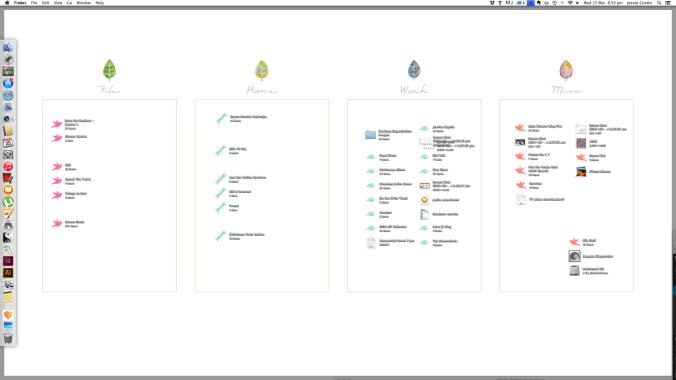 my organised desktop wallpaper