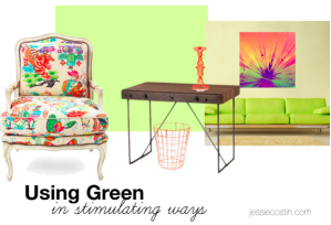 stimulating green for office or writing