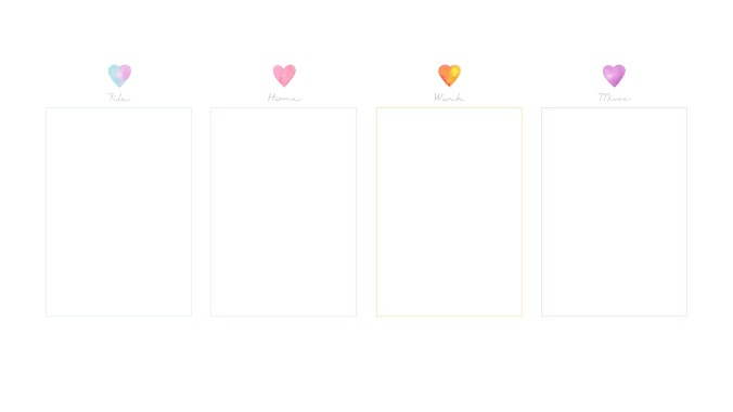 Free Watercolour Hearts Desktop Wallpaper Organiser