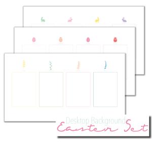 desktop organiser wallpaper easter set